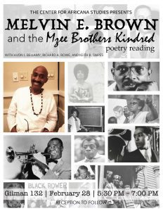 Melvin E. Brown and the Mzee Brothers Kindred poetry reading @ Gilman 132