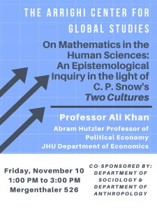 Ali Khan: On Mathematics in the Human Sciences
