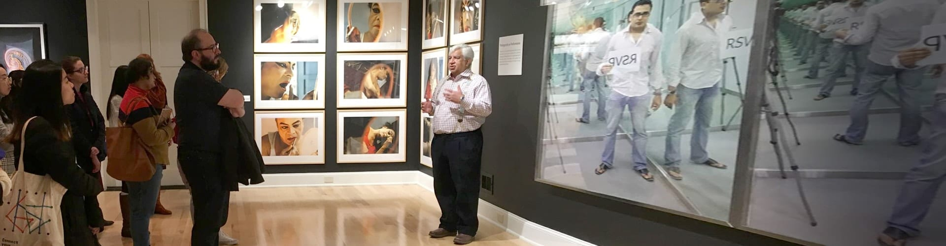 Class visit to Umesh and Sunanda Gaur Collection during Looking In, Looking Out Contemporary Indian Photography, Spring 2019