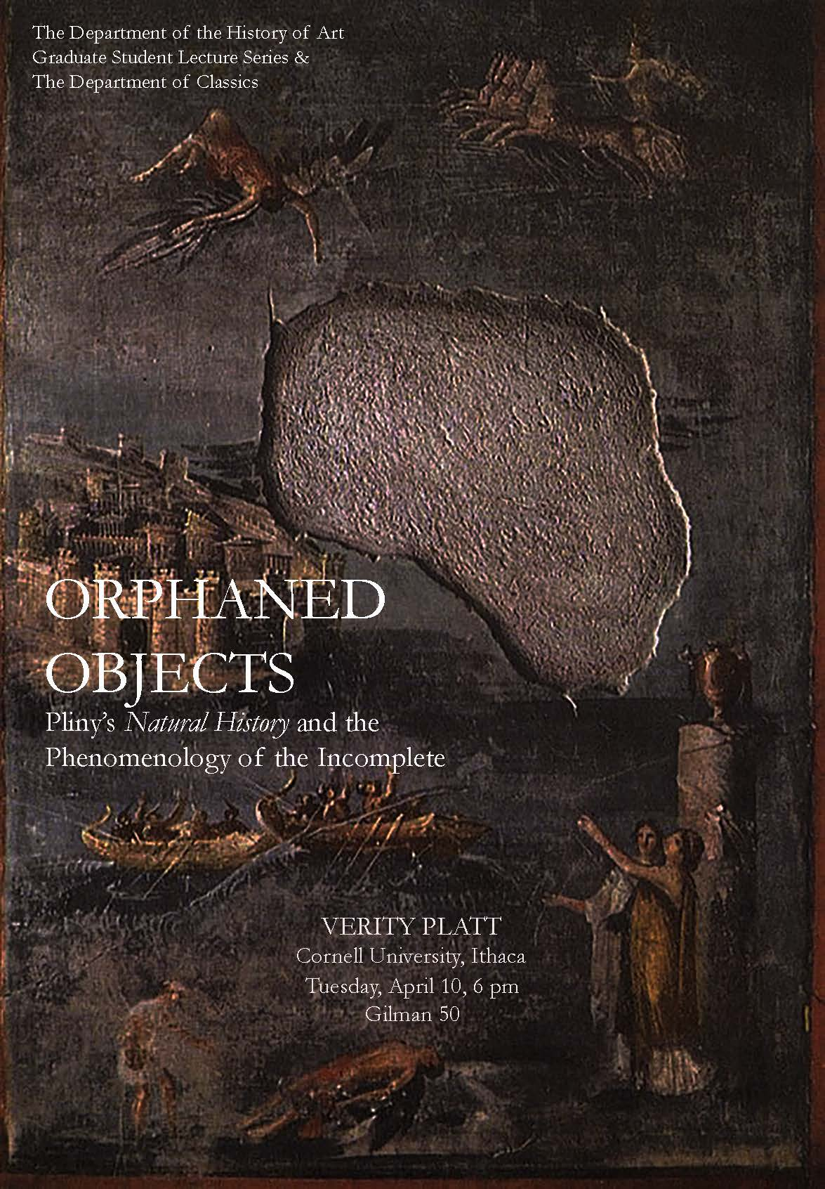 Lecture by Verity Platt on April 10