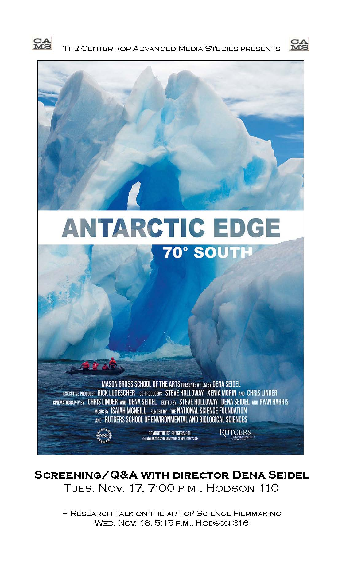 AntarcticEdge ScreeningNov17@7pm_CAMS