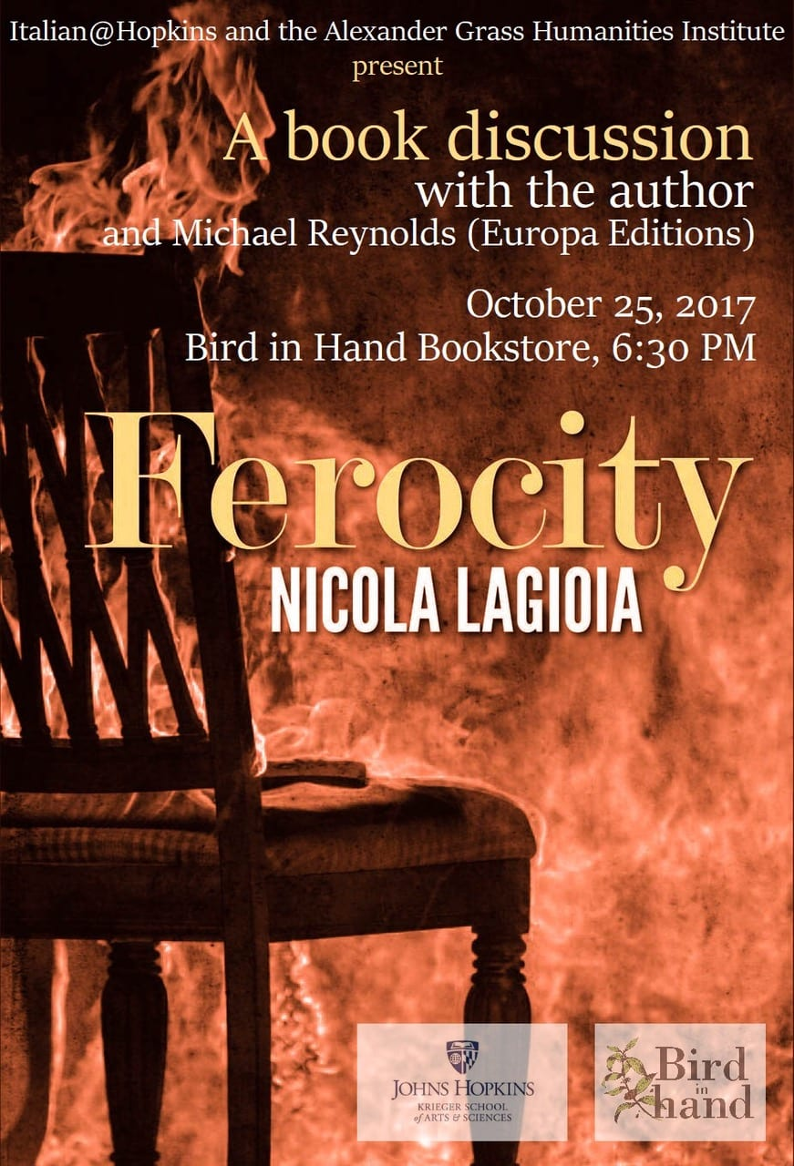 Book Discussion with Author Nicola Lagioia and Editor Michael Reynolds