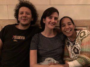 Filmmakers Ruben and Aranda and CAMS Graduate student Liliana