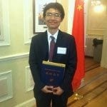 Jiawang Zhou Receives National Award for Chinese Students Studying Overseas