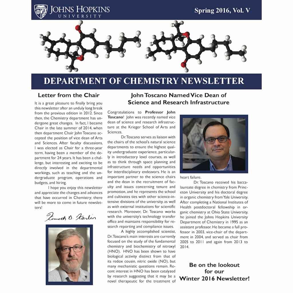 Chemistry Department Summer 2016 Newsletter