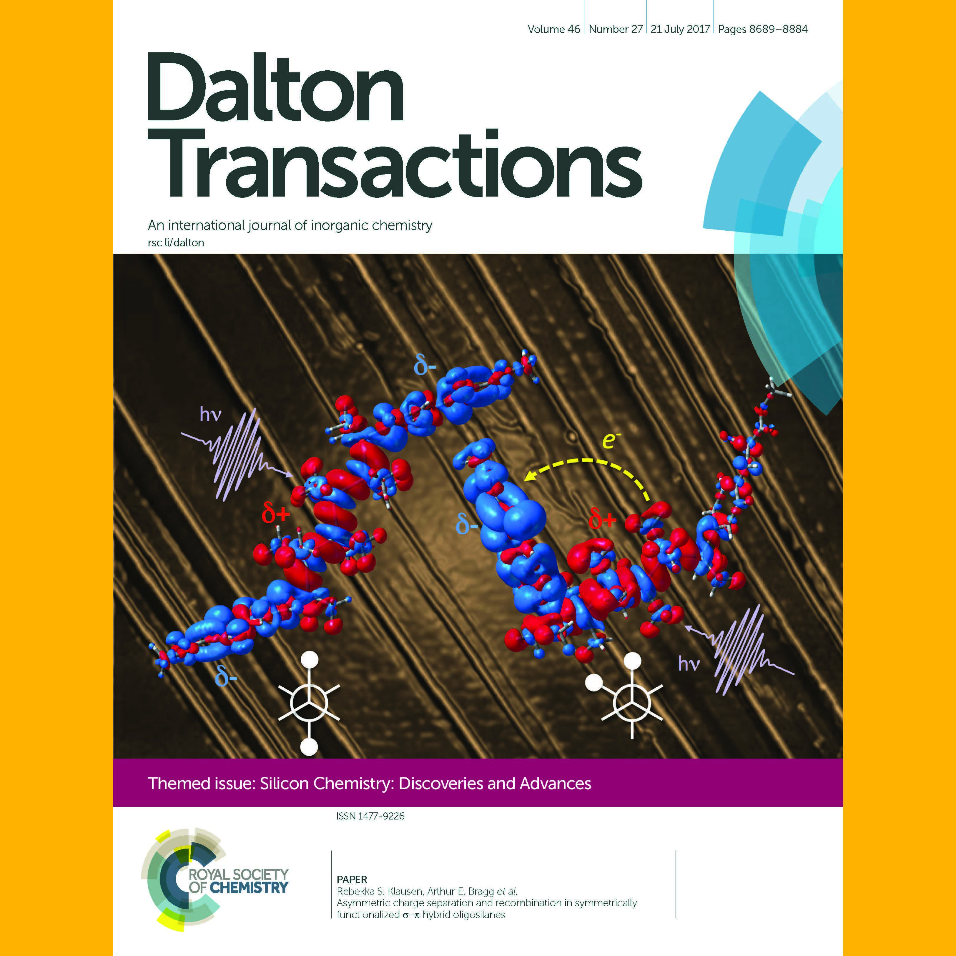Bragg and Klausen Labs Featured on Dalton Transactions Cover