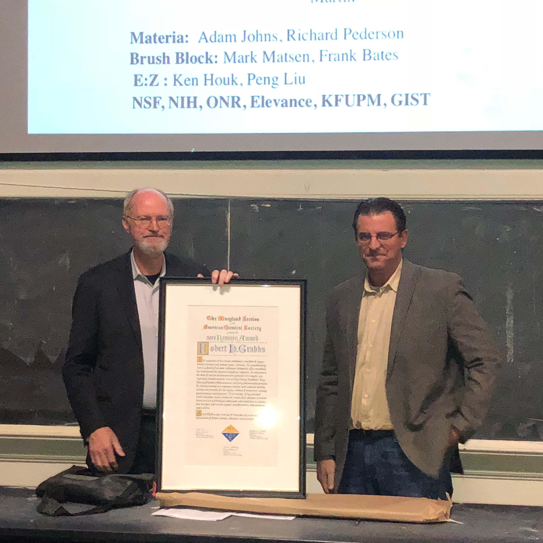 Professor Robert H. Grubbs Receives 72nd Remsen Award