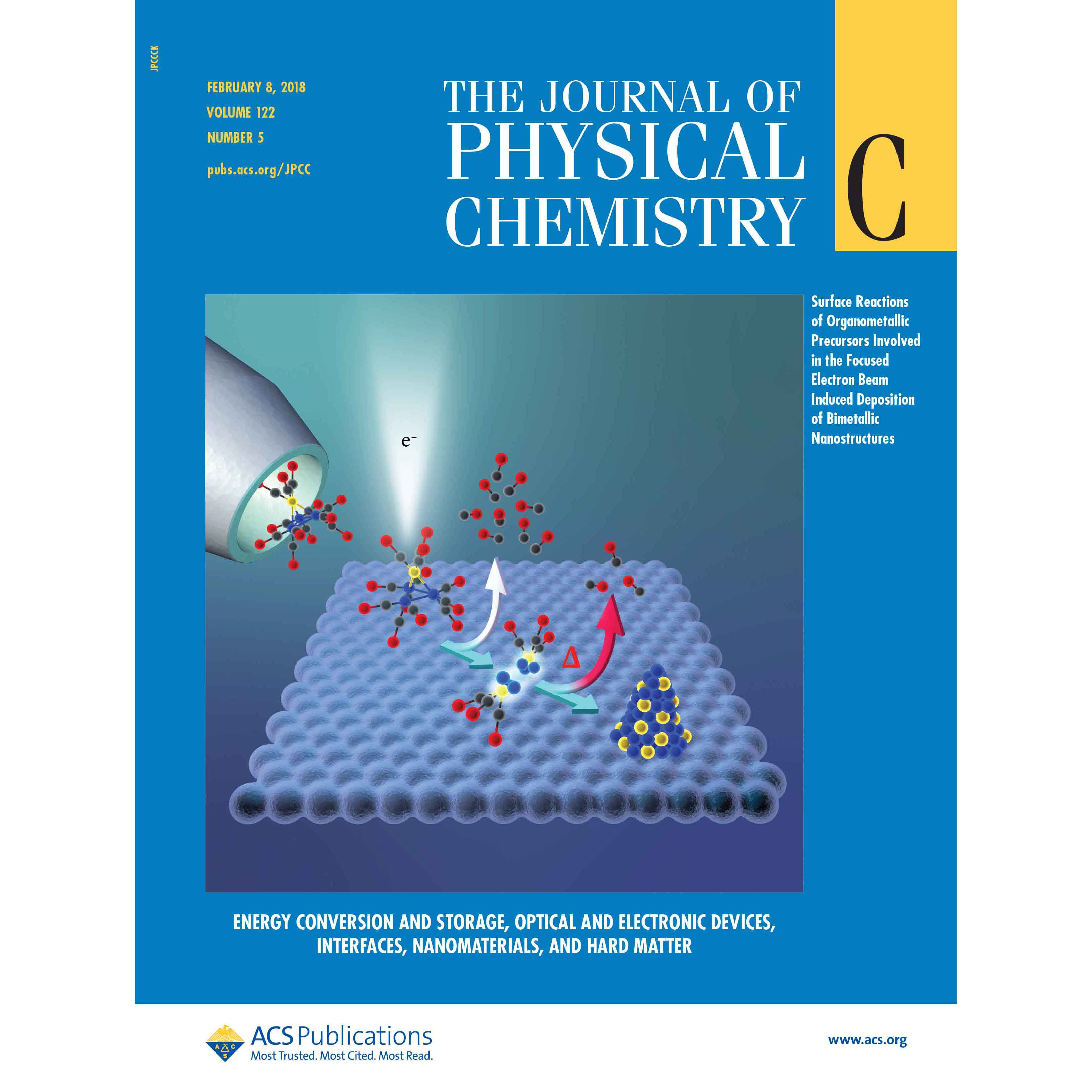 Fairbrother Lab Featured on Cover of Journal of Physical Chemistry C