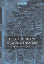 The Grounds of English Literature Book Cover