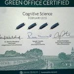 Department Receives Green Office Certification