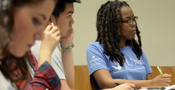 undergraduate students in class