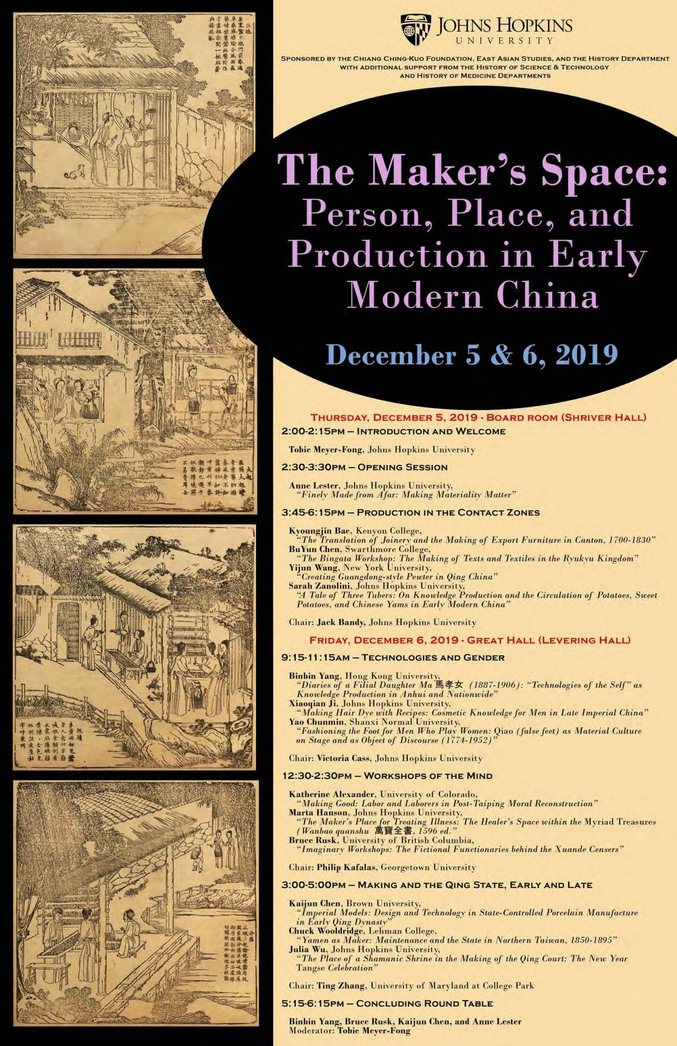 Maker's Space: Person, Place, and Production in Early Modern China