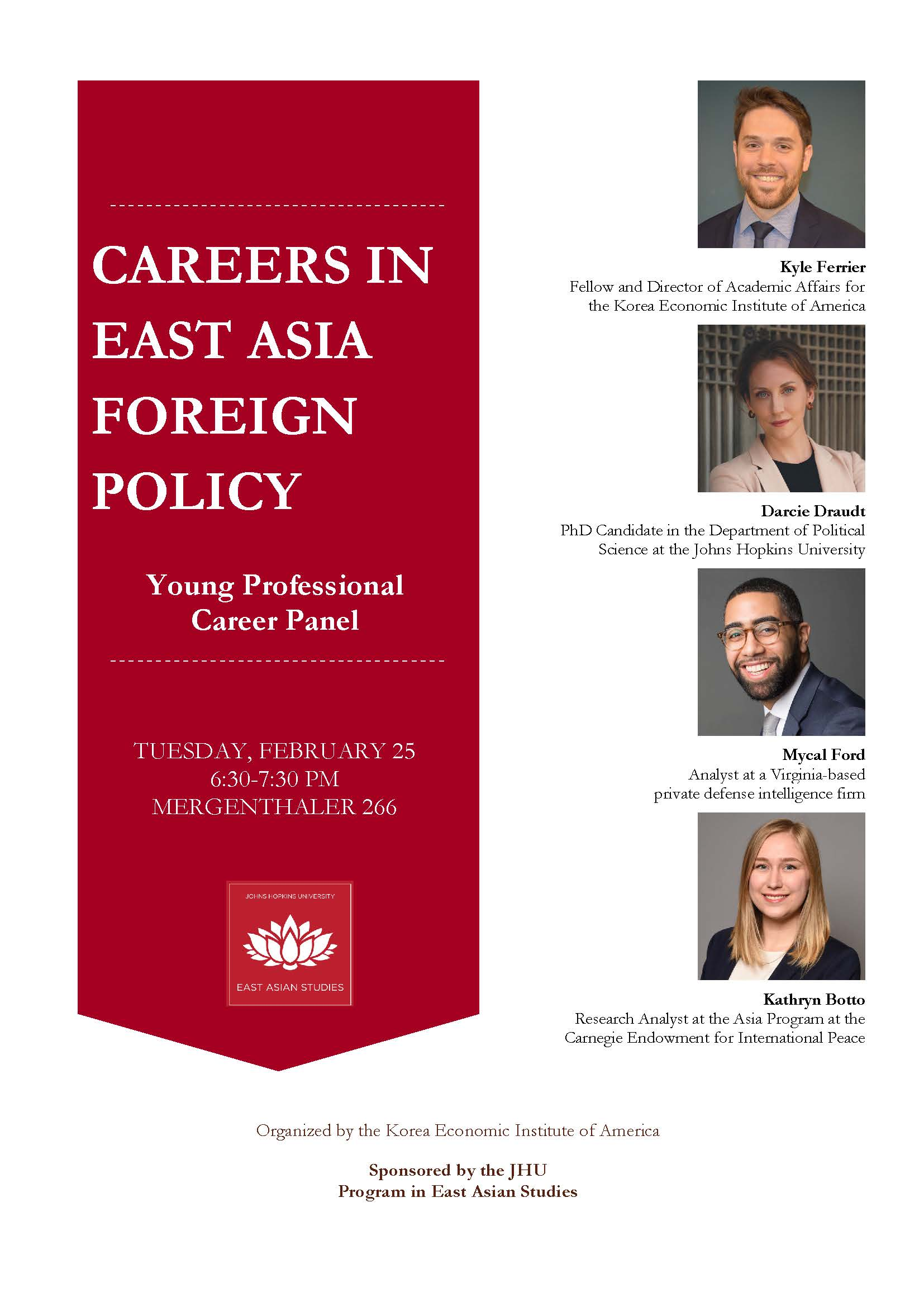 Careers In East Asia Foreign Policy Young Professional Career Panel, Feb. 25
