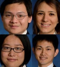 Congratulations to our recent PhDs, Weining Bao, Yoichi Goto, Leyla Karakas, and Xi Yang!