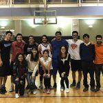 JHU Intramural Basketball League winners and fans
