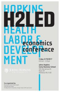 The Hopkins Health, Labor, Education and Development Economics Conference (H2LED) @ Johns Hopkins Carey Business School, Room 201 | Baltimore | Maryland | United States