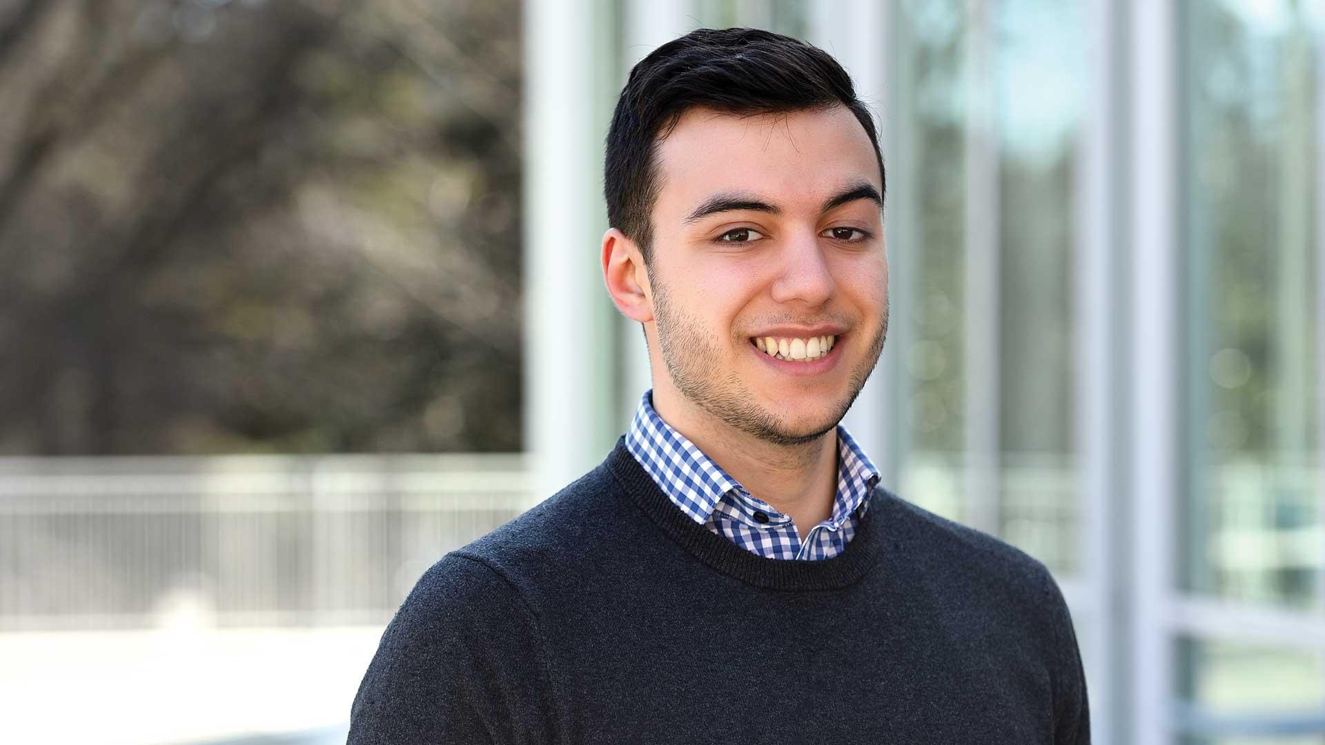 Junior economics major Johnny Saldana featured in Arts & Sciences Magazine