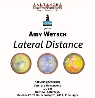 """Opening reception for """"Lateral Distance"""" by HEMI-MICA Extreme Arts Program Intern Amy Wetsch"""