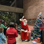Santa Claus visits Olin Hall