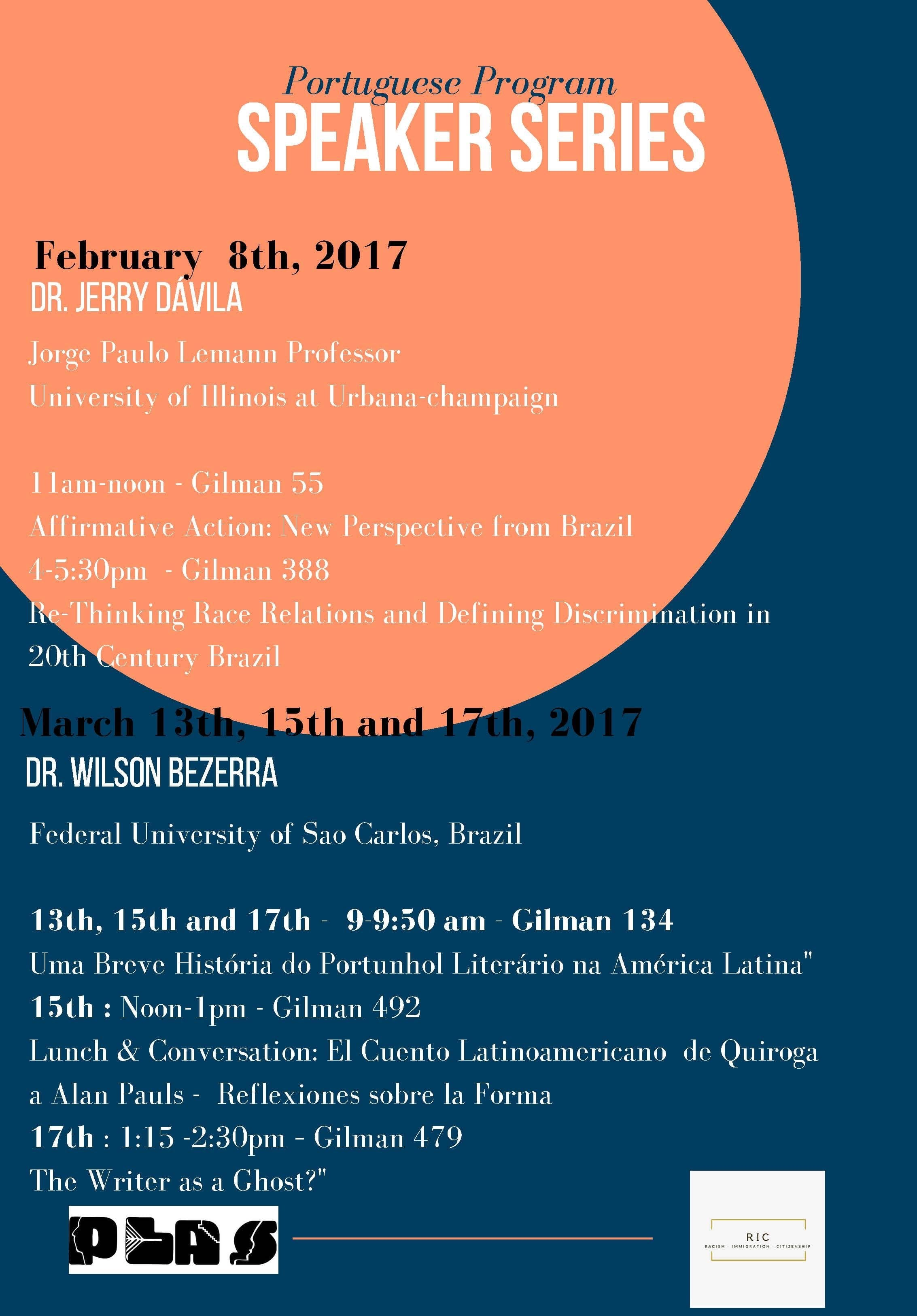 Speakers Announced for Portuguese Program Speaker Series