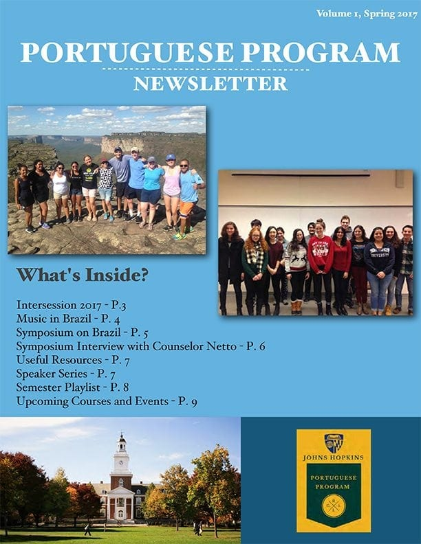 Read the Inaugural Portuguese Program Newsletter