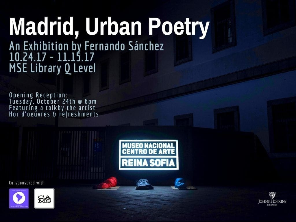 October 24-November 15: Exhibition by Spanish photographer Fernando Sánchez
