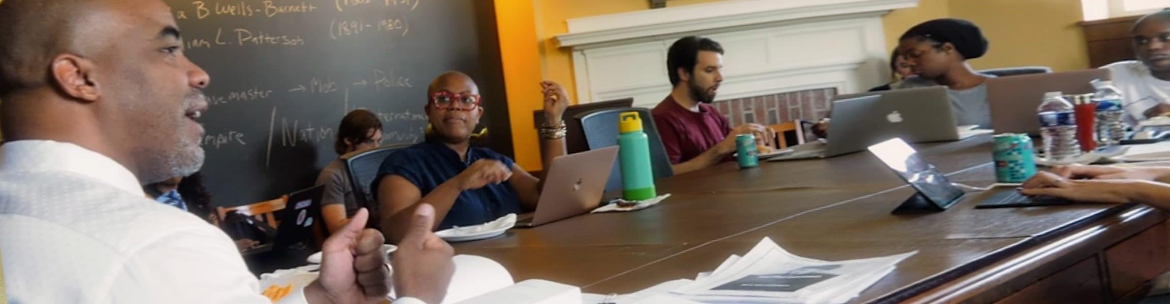 Professor Nathan Connolly teaching a graduate seminar