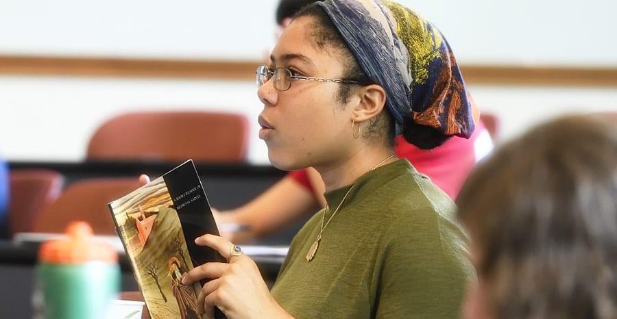 undergraduate student in History class