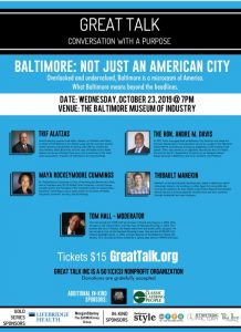 Great Talk - Baltimore: Not Just An American City @ The Baltimore Museum of Industry | Baltimore | Maryland | United States