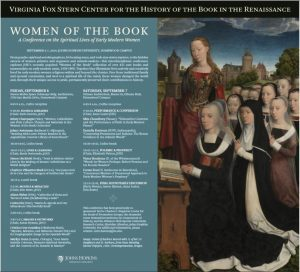 WOMEN OF THE BOOK: A Conference on the Spiritual Lives of Early Modern Women @ Steven Muller Space Telescope Bldg. Auditorium | Baltimore | Maryland | United States