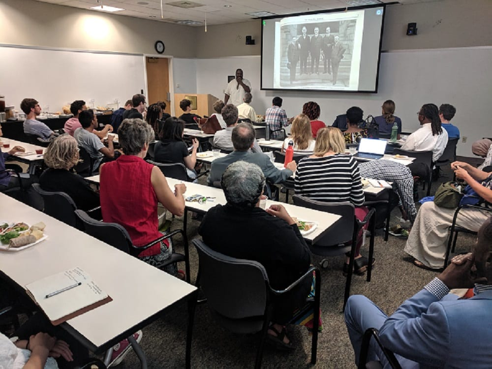 Dr. Lawrence Brown Presents First Engaged Humanities Speaker Series Lecture