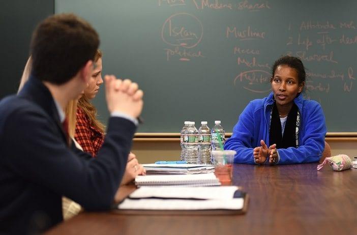 Ayaan Hirsi Ali Visits Homewood Campus