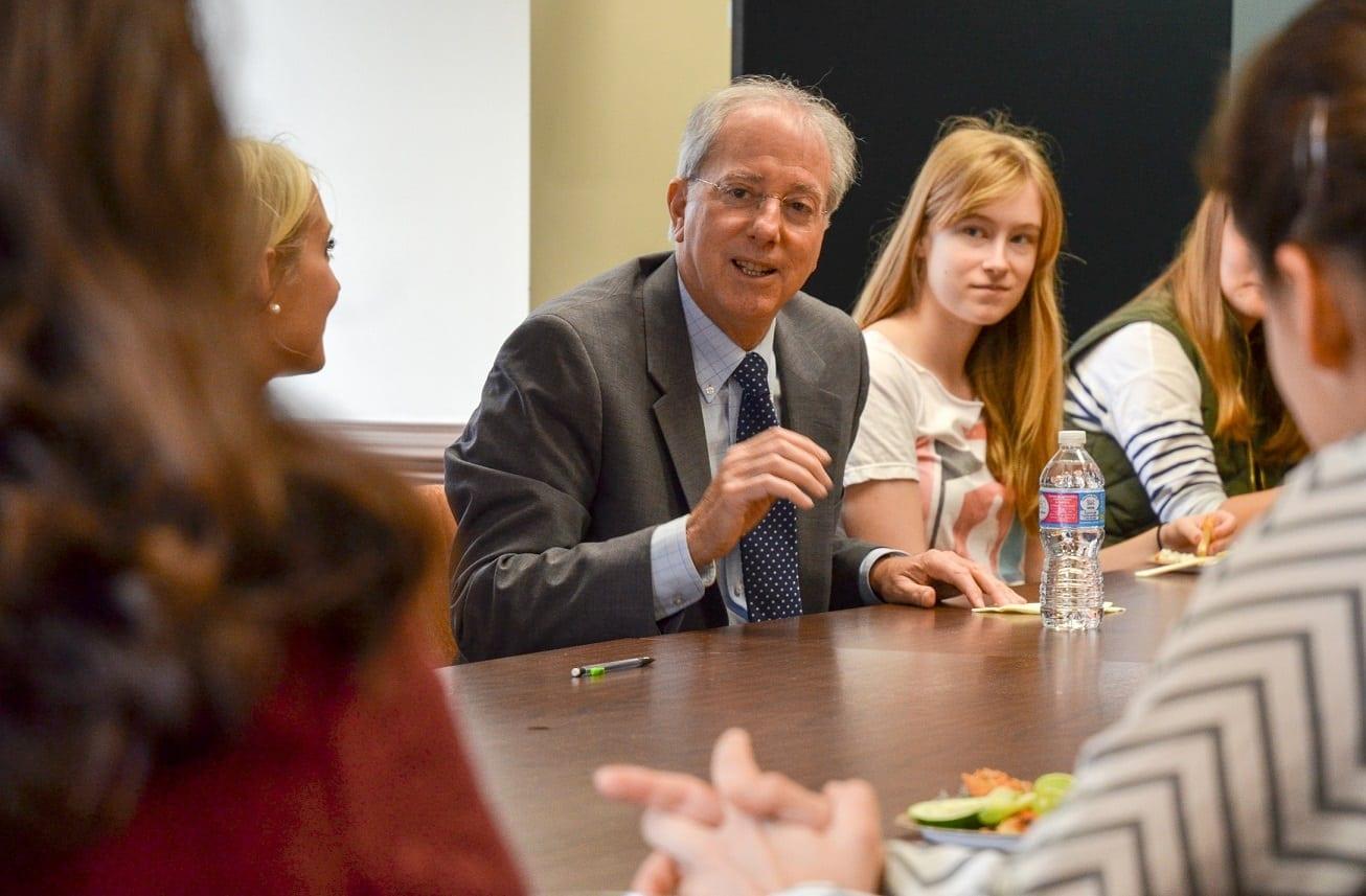 International Studies majors meet with Ambassador Dennis Ross