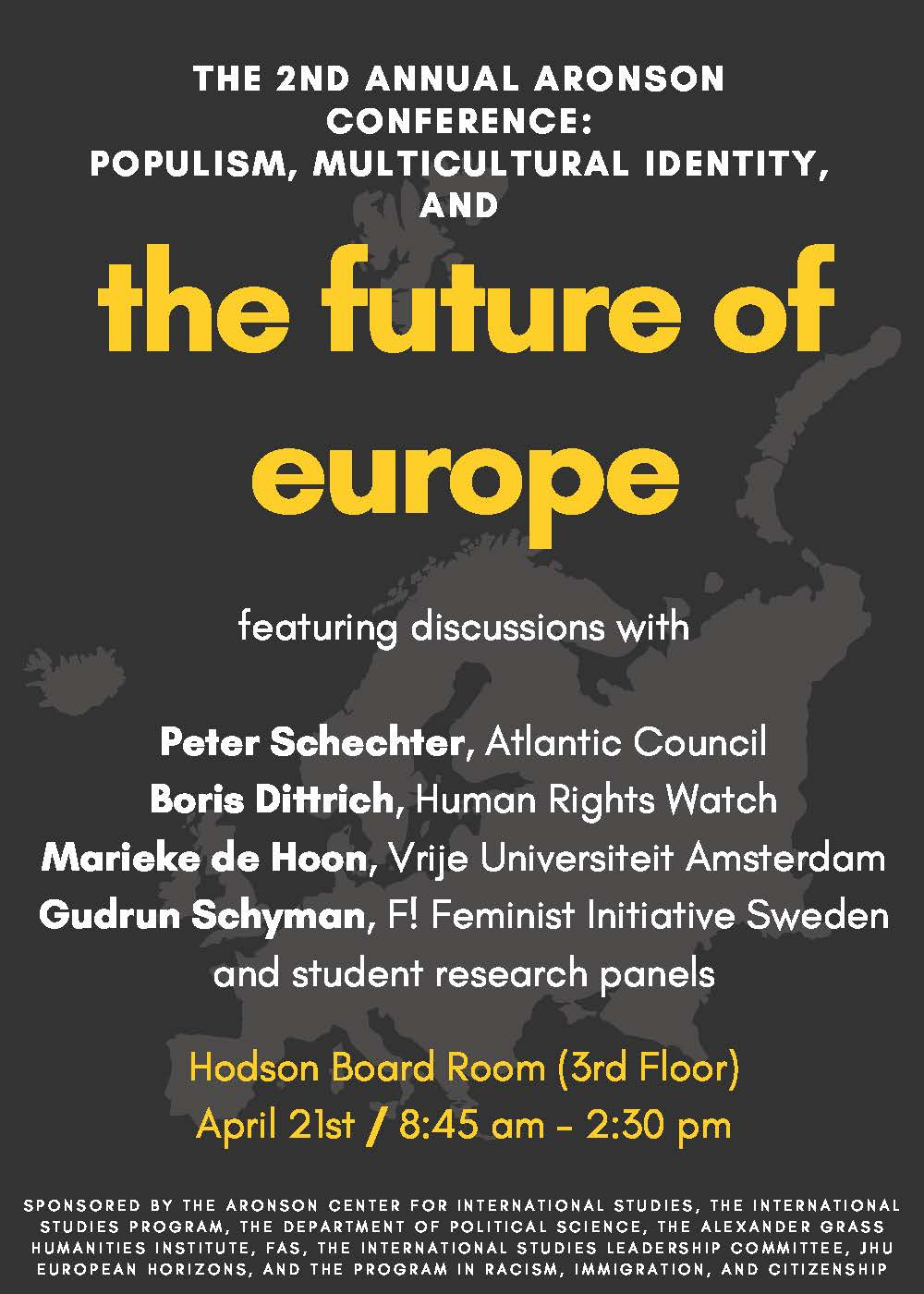 Aronson Conference discusses the future of Europe