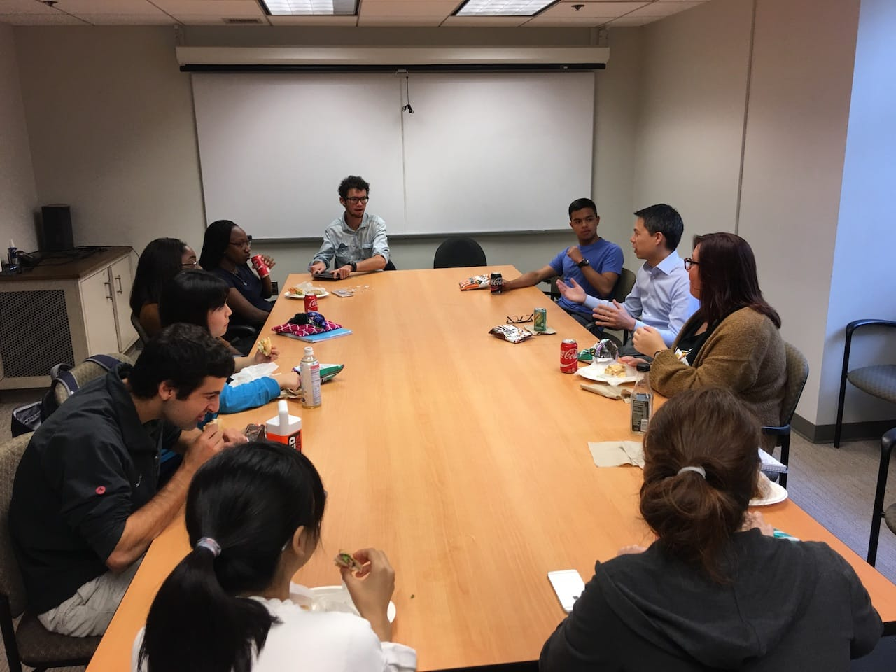 ISLC Hosts Lunch and Learn with Joel Meyer ('04)