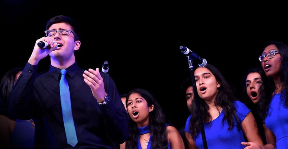 a cappella group Kranti performs