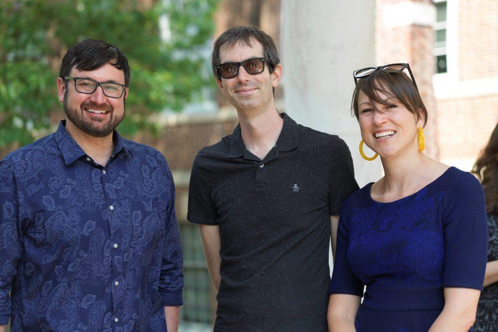 Professors P.J. Brendese, Stuart Schrader, and Christy Thornton