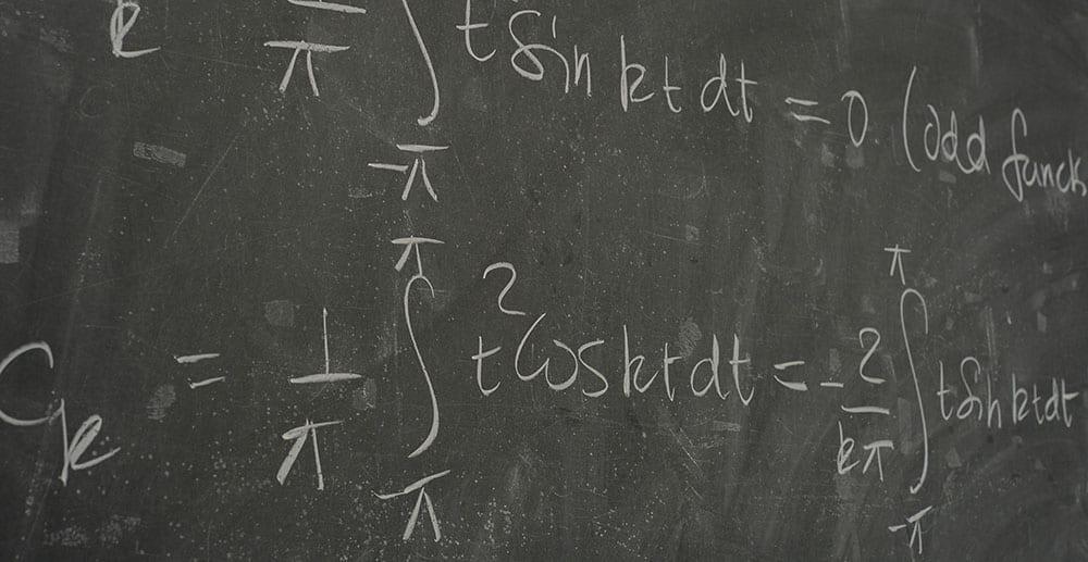 math problem on blackboard