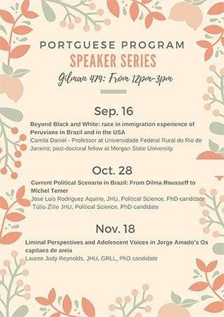 Portuguese Program Speaker Series