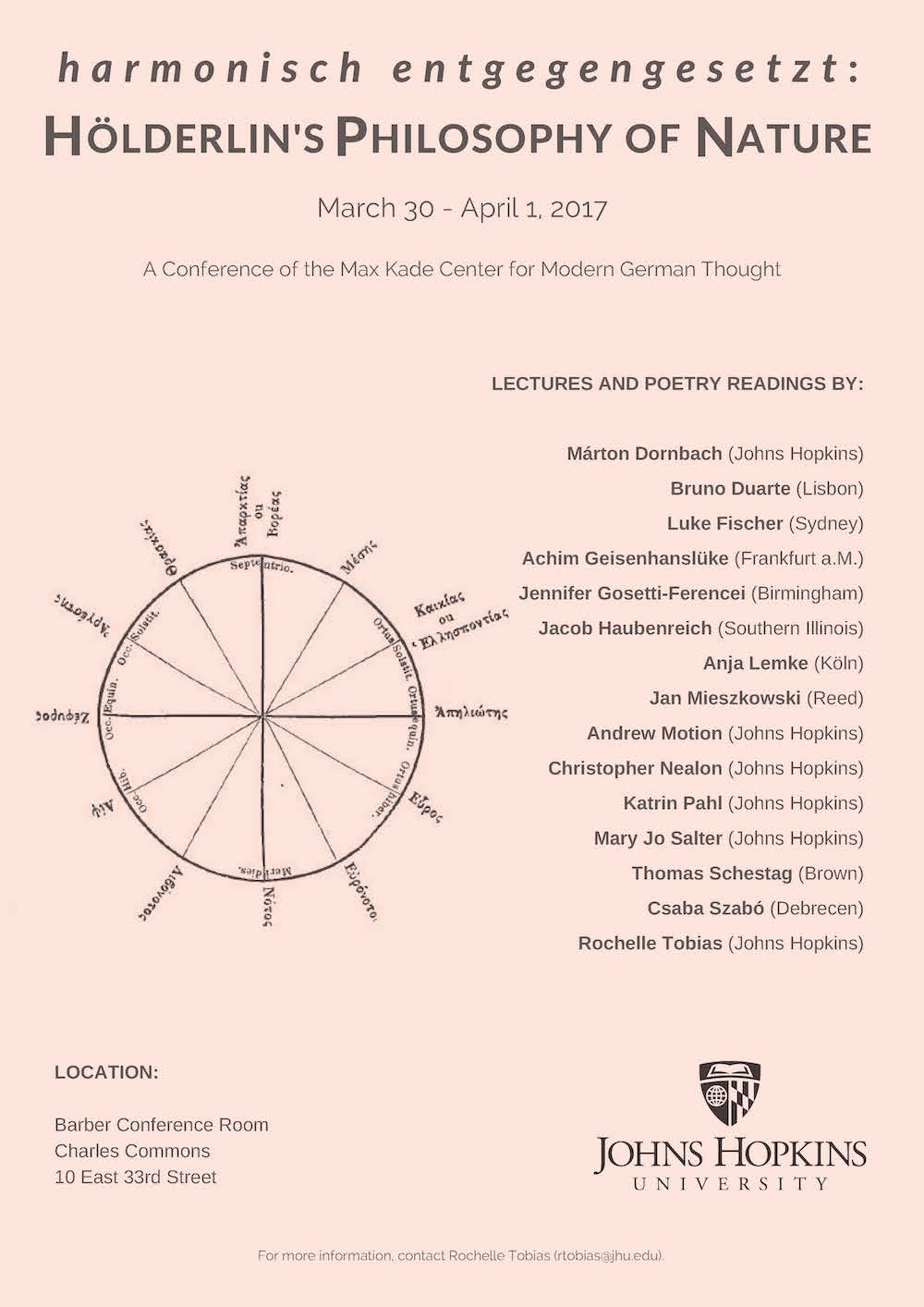 Max Kade Center International Conference, March 30 to April 1