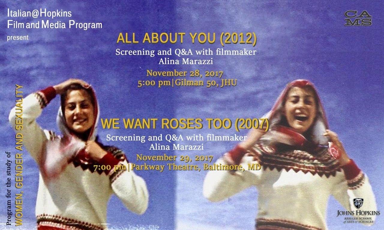 Director Alina Marazzi at Hopkins (November 27-30, 2017)