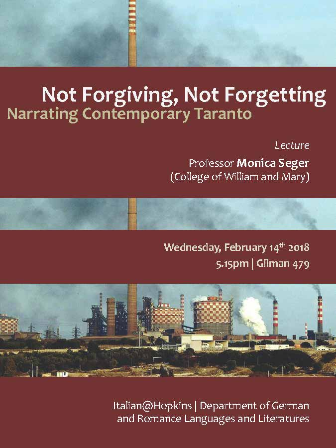 Not Forgiving, Not Forgetting: Narrating Contemporary Taranto on February 14