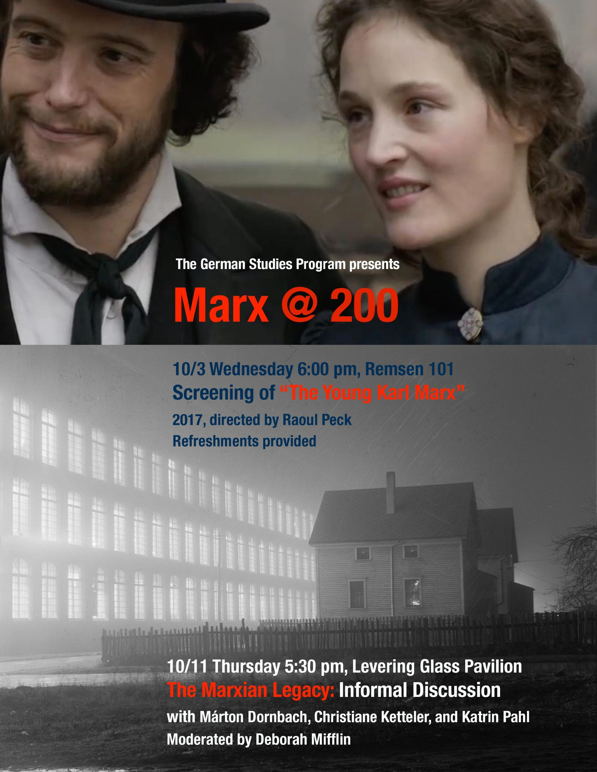 The German program is hosting two events related to the recent bicentenary of Karl Marx's birth