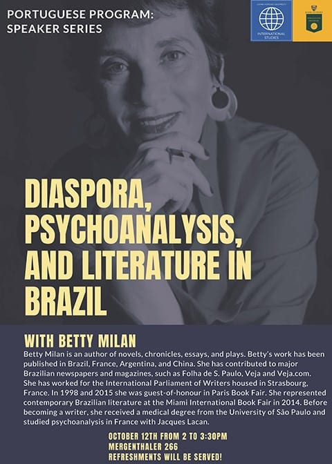 Portuguese Program Speaker Series Featuring Betty Milan