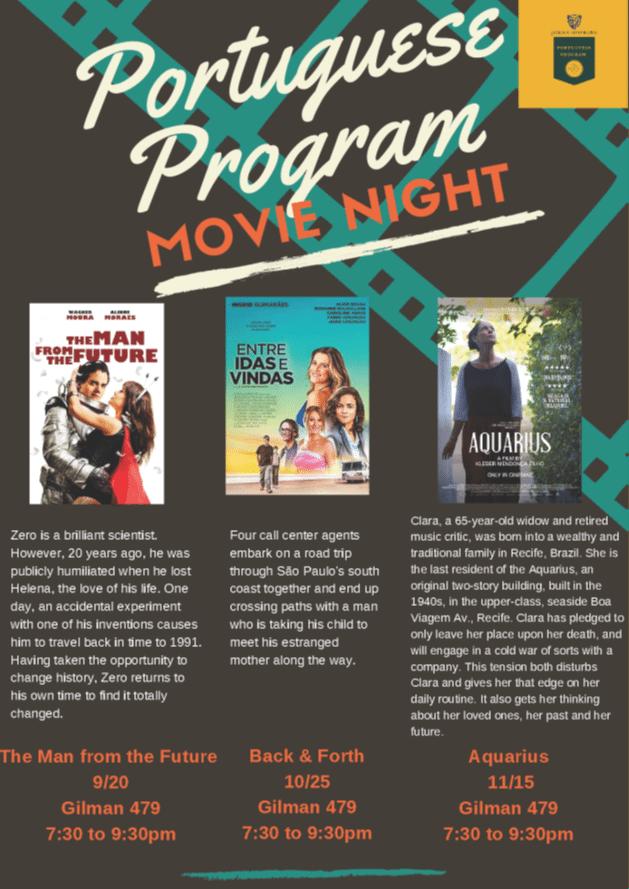 Fall 2018 Portuguese Program Movie Nights