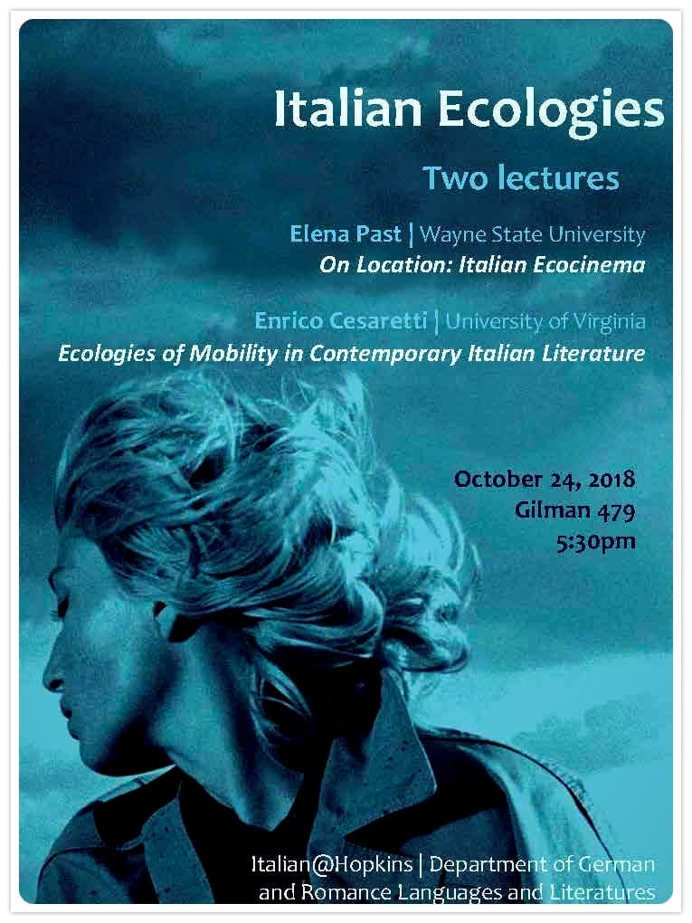 Italian Ecologies: Two Lectures by Prof. Elena Past and Prof. Enrico Cesaretti
