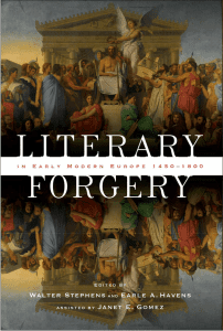 Literary Forgery in Early Modern Europe, 1450–1800