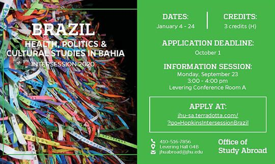Study Abroad in Bahia, Brazil for Intersession 2020