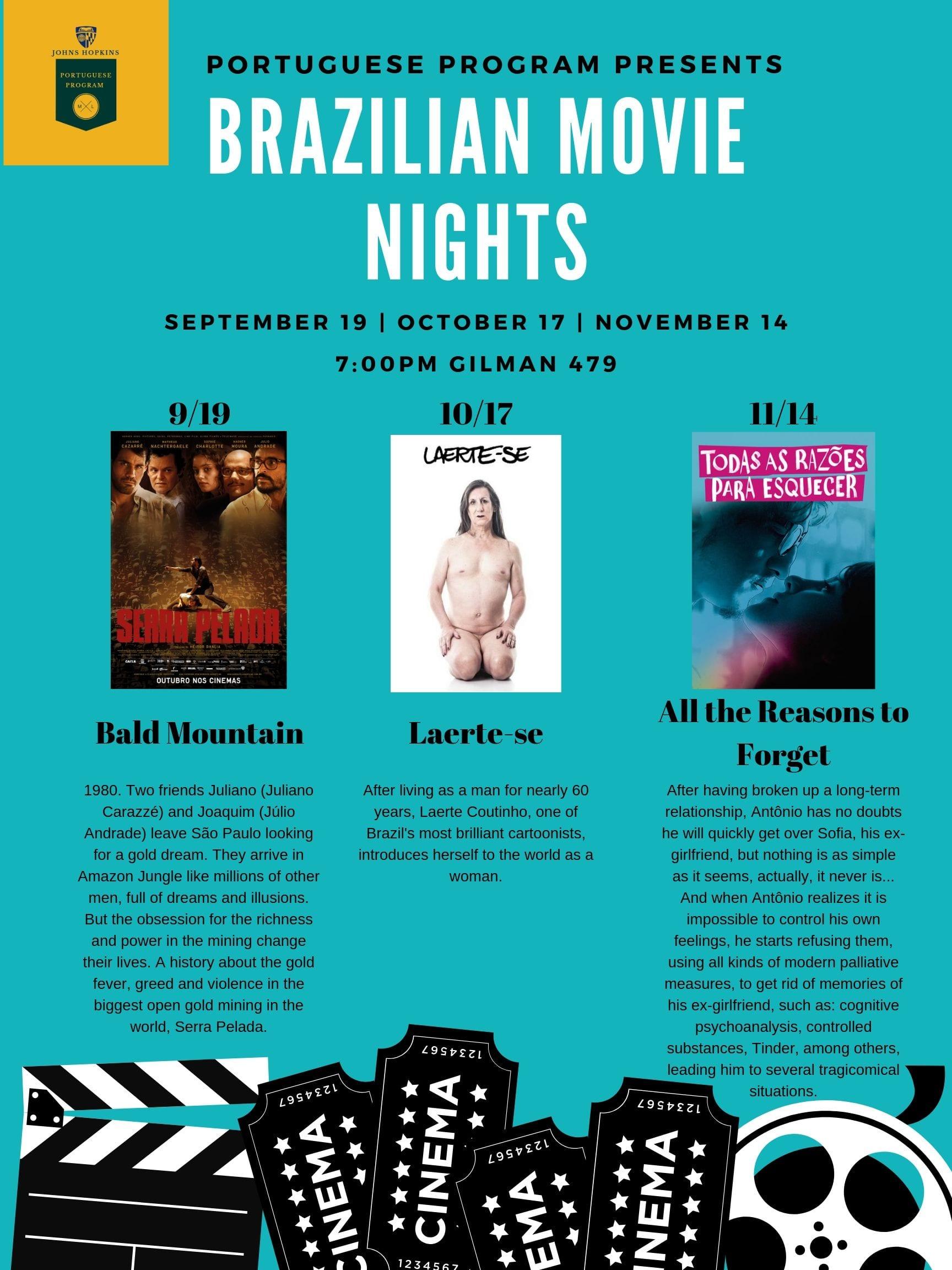 Fall 2019 Portuguese Program Movie Nights