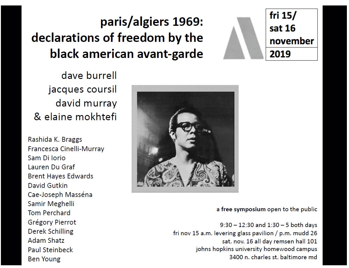 paris/algiers 1969: declarations of freedom by the black american avant-garde